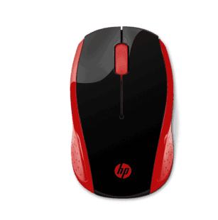 Mouse Inalámbrico HP 200 Rojo