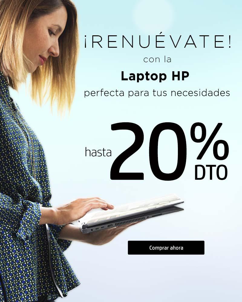 ¡Renuévate! con la Laptop HP perfecta para tus necesidades con hasta 20% dto